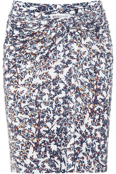Floral Print Jersey Skirt, $195